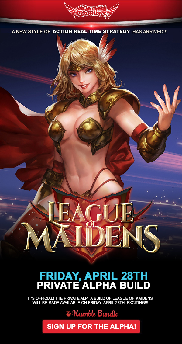 official release date for league of maiden private alpha